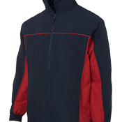 Podium Contrast Warm Up Jacket Black/Dk Red S