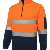 JB's Hi Vis (D+N) 1/2 Zip Polar Fleece