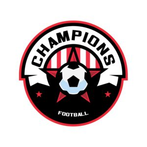 Champions Football logo template Thumbnail