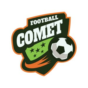 Comet Football logo template Thumbnail