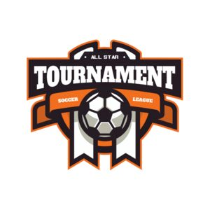 Tournament Soccer league logo template Thumbnail
