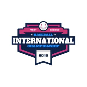 Baseball International Championship logo template Thumbnail